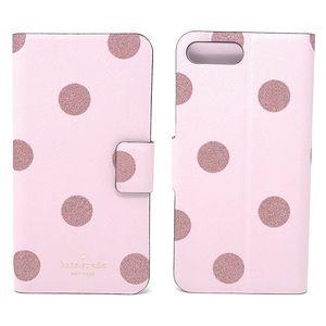 NWT Kate Spade Glitter Dot Iphone 7/8 Plus Case